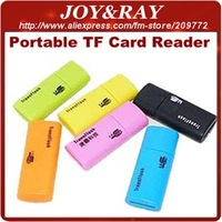 USB 2.0 Micro SD Card Reader/TF Card Reader Portable Usage Slim Body Lot=50pcs Free Shipping