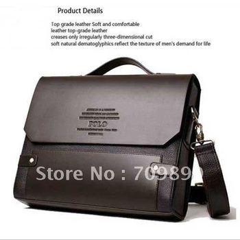 Authentic Moonar Men'S Leather Shoulder Messenger Briefcase Bag Bookbag 10