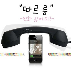 MIC 3.5mm Retro Phone Telephone Handset For iPhone / iPad / HTC / Samsung PC Portable Classic Headphone FREE SHIPPING(China (Mainland))