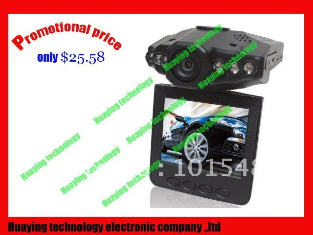 low price Car DVR 198 car camera with night vision free shipping to worldwide(China (Mainland))