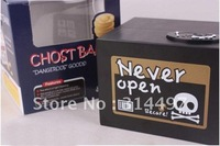 Ghost Box Coin Bank with Popping Skull and Skeleton Hand Money Saving Box