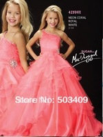 Hot Sale ! Shallow red Flower Girl Part Pageant Wedding Dress SZ