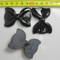 Free shipping 5pcs/lot black resin bow design Resin material accessories for iphone4 case dec.