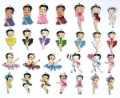 Gift ! Hot ! New 100 pcs Cartoon DIY Betty Boop Charm Metal Pendant jewelry