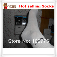 Free Shipping 20 pair/lot Long and Brand Men Socks Athletic Sports Men basketball Socks
