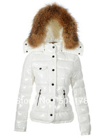 Ladies Coat Women's Down Coat Lady Short Jackets Winter Clothes Black Red White Gold Coats Fur Collar Down Jacket Best Selling