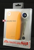 Super Hot FREE SHIPPING 180 Degree Fish Eye. Wide Angle Lens with phone case for iPhone4 use