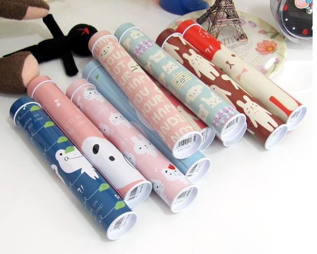 Wholesale -cartoon pencil box brush pot functional cartoon box tin box 18.3*3.5cm free shipping