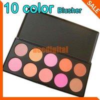 Fashion 10 Color Makeup Cosmetic Blush Blusher Powder Palette , free shipping