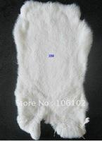 10pcs/lot free shipping!55*40cm WHITE raw rabbit skin rabbit fur rabbit leather cloth accessories raw rabbit material