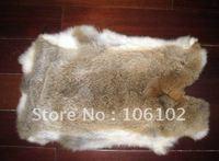 10pcs/lot free shipping! 38-42cm*25-27cm raw rabbit hide rabbit fur rabbit skin cloth accessories raw rabbit fur raw material