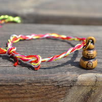 Gourd/hulu colorful rope greeting bracelet/anklet wholesale 60pcs/lot fashion jewelry