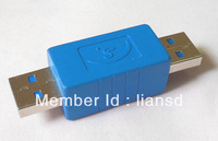 15pcs/lot USB3.0 AM to AM Adapter Converter Male to male free shipping via EMS or DHL