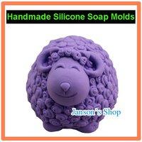 3D Cute Sheep Shape JSHM-0843 silicone soap mold siicone mold cake pudding chocolate candle mould handmade soap form