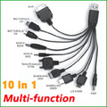 3pcs/lot Multi-function 10 in 1 USB Charging Cable for Mobile Phones,Iphone,Ipod Charger Free Shipping MA0933