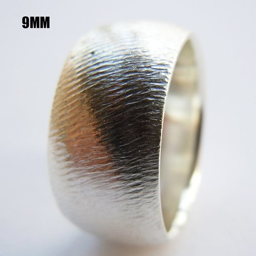 Mens Silver Ring Handmade 9mm Solid 925Sterling Silver Plain Bands All Size 4-16(China (Mainland))