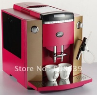 Fully Automatic Coffee Maker+Adjustable water spout +Programing key+LCD+ 10 languages function+Free Shipping