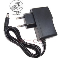 AC 100V-240V Converter Adapter DC 6V 1A / 1000mA Power Supply EU Plug AC/DC 5.5 mm x 2.1mm 50PCS + DHL Free shipping