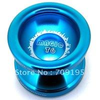 Free shipping Magic yoyo T6 New (Super bow), 2011 Advanced Aluminum T6 High quality aluminum alloy Metal YoYo ball,Best Choose