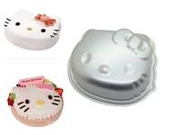 Free Shipping 2pcs Hello Kitty Cat Bakeware Cake Jelly Pudding Pan Mould Model Mold Aluminum