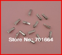 Bargain for Bulk silver finish 2.0cm mini rectangle plain metal alligator clips at lead free and nickle free quality