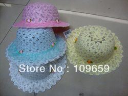 Wholesales fashion children Hats/straw hats Factory Directly price Bucket Hats,quantity can be consulted,C20111205(China (Mainland))
