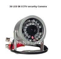 Wholesale - With Audio 30 LED Outdoor Color Waterproof CCTV Camera Free shipping!!!