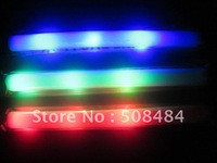 free shipping  100pcs/lot  red blue green  color led foam stick foam glow stick light stick light up foam stickfor Christmas