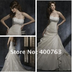 Delightful A Line Chapel Train Taffeta Bridal Shops & Wedding Dress Stores(China (Mainland))