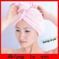 40pcs  Free shipping pretty practical Lady's Magic Quick Dry Bath Hair Drying Towel Hat Cap