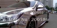 Air Free bubble Chrome silver gold vinyl wrap foil chrome vinyl car wrapping film Free shipping cv30m