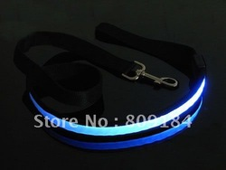 LED light pet dog leashes five flashing colors nylon fiber material led dog leash collar(China (Mainland))