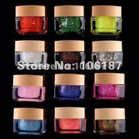 Nail Art Pure Colour12 Colors nail  UV Gel Pure Colorful  Gel for Nail Art Nail UV Lamp , Free Shipping, Dropshipping