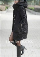 Fashion  Thick cotton-padded clothes /Add cotton warm cotton dust coat /