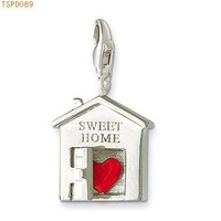 Free Shipping Sterling Silver Pendant Sweet Home Charm ,925 silver charm pendants,925 sterling silver jewelry,fashion pendants