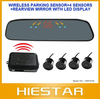 Wireless  Car Backup Radar Rearview Mirror Car parking Sensor system free shipping