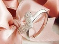 Min.order is $15 (mix order) Factory price! New style Fashion shiny love ring,free shipping J1058