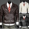 British style hot sale high quality men fashion slim Gentleman PU leather jacket/retail/free shipping