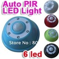 30pcs/lot PIR Infrared Auto Sensor Light Lamp Motion Detector 6 LED Lights Smart Sensitivity EMS free HXB0084