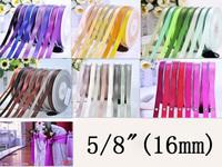 "5/8""  Double Face Satin 16mm Ribbon Wedding Packing Satin Tape 100yard/lot Free Shipping  Wholesale"