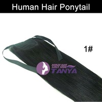 Human Hair Ponytail Extension 1# 16/20/24inch 100g/piece 100% Real Human Hair Factory Outlet Accept Custom Order Free Shipping