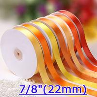 "7/8""(22mm) Single Face Satin Ribbon Packing Ribbon 100yard/roll"