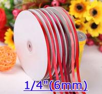 "1/4""(6mm) Single Face Satin Ribbon fita de cetim DIY Ribbon 100yard/lot"