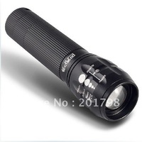 Baggio outdoor Q5 CREE flashlight zoom dimming focus flashlight, bicycle lights
