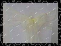Wholesale   -chair cover sash- organza sash