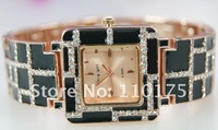10pcs/lot   free shipping    Fashion design strap watch with crystal that glittered  SAMPLE