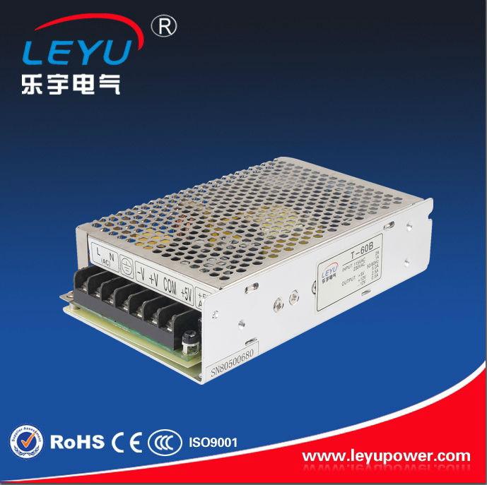 Triple output power supply 60w 5V 15V -15V 5A 2A 0.5A power suply T-60C ac dc converter good quality(China (Mainland))