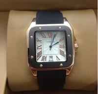 FREE SHIPPING Luxury Business Men Watch Genuine Leather Strap WristWatch Big Dial Quartz Watch For Men*Best Gift & Retail Goods