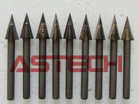 10 pcs 30 Standard Angle Carbide Cutters, Stone Engraving Tools, CNC Cutting Bits Lettering on Marble, Bluestone, Aluminum,Acryl