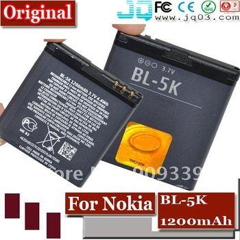 1200mah Original Replacment BL-5K 5K Battery For Nokia N85 N86 C7 c7-00 x7-00 701 Mobile phone Battery